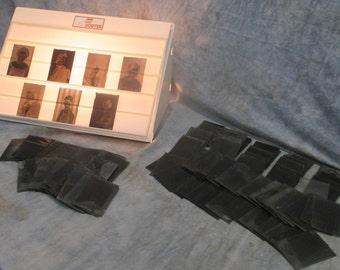 Lot 150 Glass Negative Slides Antique Photo Photography Women Children n