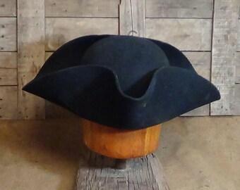 Militia Tricorn hat, Colonial, Militia, Revolutionary War, reenactment, historic, Lil Grizz, hand blocked, hand shaped, custom-fitted