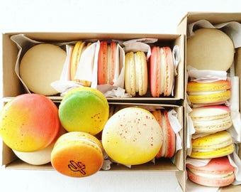 15 Macarons, French Macarons, Macaron, Custom Macarons, Macaron Party, Desserts, Hand Painted Macarons