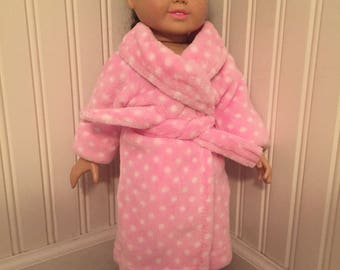 "18"" doll plush robe"