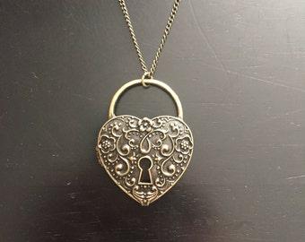 Custom Heart and Key Locket