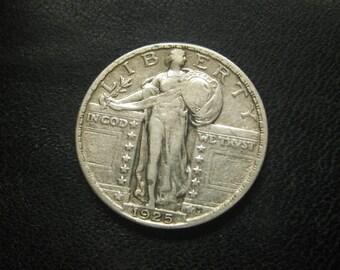 1925 P Standing Liberty US silver Quarter