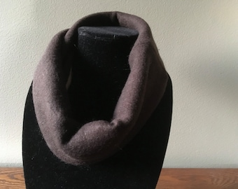 Brown and wheat Upcycled cashmere cowl. Felted cashmere neck warmer. #6