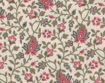 Item # 13635 16 Moda Fabric La Belle Fleur Collection by French General. 1/2 Yard Cuts Vintage French Designs.