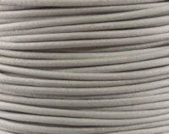 "2mm Round Leather 2mm ""White"" Round Leather Sold By The Yard Or Spool #26"