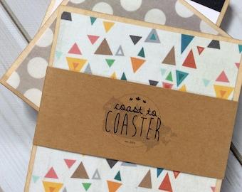 Geometric Coasters, Yellow Coaster, Colourful Coaster, Colorful Coasters, Wooden Coaster Set, Wood Coaster, Triangle Coaster