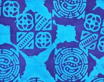 Batik cotton fabric spirit Rune blue of African fabric