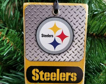 STEELERS Wood Christmas Ornaments NFL Ornaments