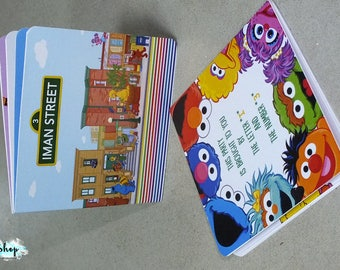 Sesame Street Book Invitations