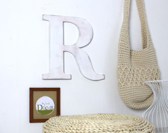 large wooden letter   - giant letter - custom letter - decorated letter - mylittledecor - wedding - for men