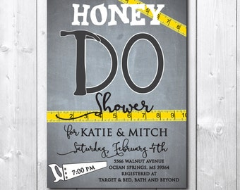 Honey Do Shower Invitation printable/Digital File/Couples Honey Do, Tool Shower, party, groom, tools and gadgets/wording can be changed