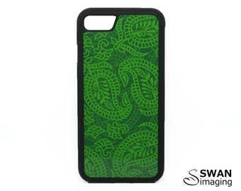 Green Leaf Phone Case ~ TPU + PC Case ~ iPhone 5/5S, SE, 6/6S, 6/6S Plus, iPhone 7, 7 Plus ~ Samsung Galaxy S5, S6, S7, S7 Edge, S8, S8 Plus
