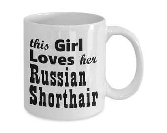 Russian Shorthair - 11oz/15oz Mug - Cat Mugs Gifts - Cat Lover Gift - Cat Coffee Mug - Funny Cat Mug - Coffee Mugs Tea Mugs Cat Gift For Her