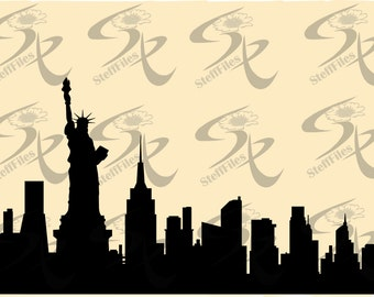 0480_NEW YORK World famous cities silhouettes vector,SVG,DXF,ai, png, eps, jpg,Art print home,Download files, Digital, graphical