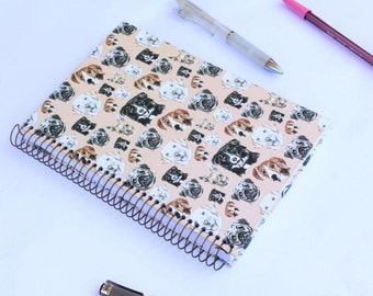 Dogs Notebook-Journal with metal espiral and dot pages