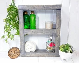 Bathroom Shelf, Bathroom Shelves, Bathroom Storage, Rustic Shelves, Wall  Shelf, Bathroom