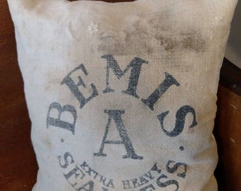 Grain Sack Bemis Pillow