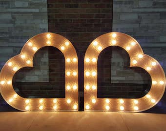 4ft Marquee light up Heart