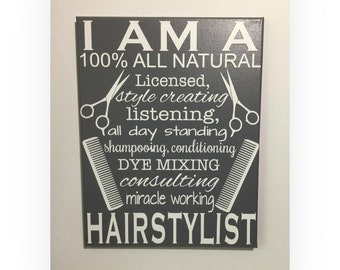 Painted Canvas sign - gift for hairstylist - hair salon decor