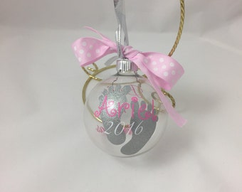 Baby Girl's First Christmas Ornament, personalized baby girl's first Christmas ornament