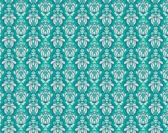Vienna by Riley Blake - Vienna Damask Green - Cotton Woven Fabric