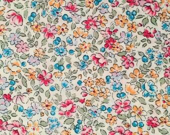 Small Floral Print Cotton Fabric, 100% Cotton - Fat Quarter