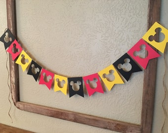 Mickey Mouse Banner Mickey Mouse Garland party decorations Mickey Mouse Birthday Decorations