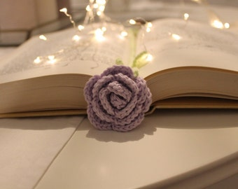 Bookmark rose - crochet