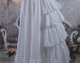 Petticoat victorian bustle skirt, Steampunk undergarment, Underskirt edwardian steampunk wedding dress
