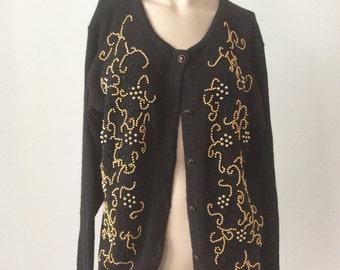 Gold beaded cardigan