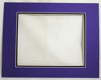 Double Mat Board 11x14 to fit 8x10 Colorado Rockies Colors