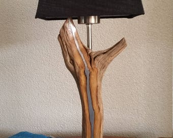 New: Unique Table lamp inlaid with lead