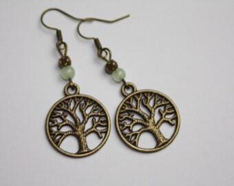 Tree of life earrings bronze