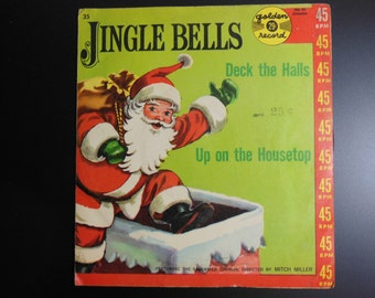 Deck the Halls and Up On the Housetop 45 rpm Record by Golden Records