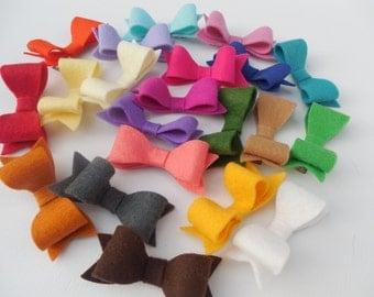 Individual Felt Bows - Choose Your Colors