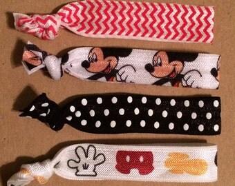 Mickey Mouse Elastic Hair Ties