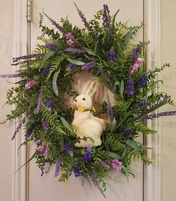 Lavender wreath spring wreath mothers day wreath birthgday for 3 wreath door decoration