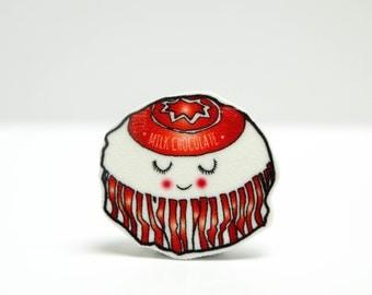 Jolly Tea Cake Pin Badge