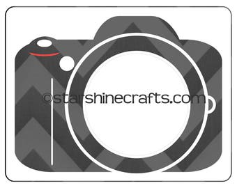 Camera silhouette for monograms SVG file for personal cutting machines - instant download