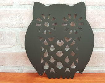 Retro Owl Trivet   Recreated Vintage Style Owl   Decorative Hot Plate U2013  Wise Owl Décor