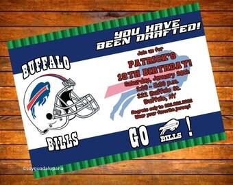 Buffalo Bills Football Personalized Invitation - Digital Download
