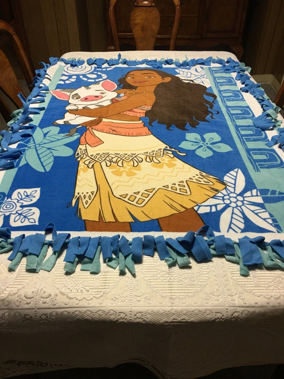 Handmade Moana Fleece Blanket