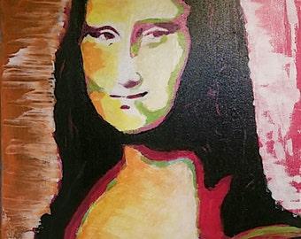 Mona Lisa Acrylic on Canvas