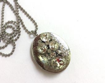 Upcycled Necklace with Locket