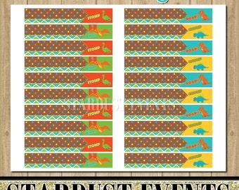 Dinosaur Straw Flags, Dino Straw Flags, Dinosaur Birthday Party, Dinosaur Printables
