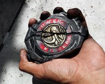 Cosplay battle-damaged Black MASTODON Resin power morphing device prop replica