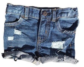 Lilly Distressed Cutoff Shorts, denim holey jean shorts