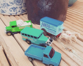 Vintage toy cars x 4 some corgi.
