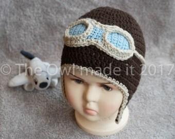 Child Aviator Hat Toddler Aviator Hat Children Pilot Hat Kidswear Dressing Up  Costume hat Novelty hat Toddler hat Boy Winter Hat