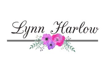 Multiple Color Options;Watercolor Logo; Flower Logo; Ready to Customize